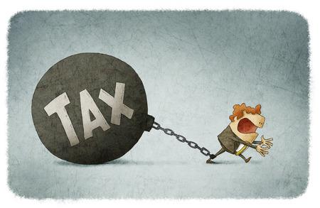 Enchaînés aux impôts Banque d'images - 54968357