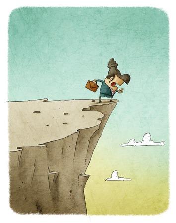 precipice: businesswoman in precipice