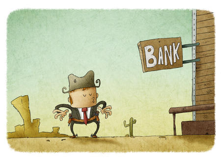 signboard: Wild West. Signboard Bank