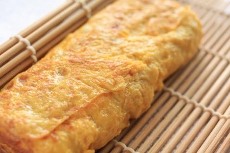 日本料理は、目玉焼きの調理 写真素材