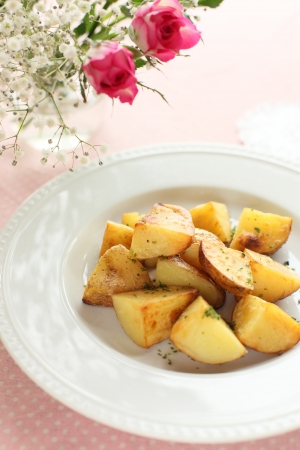 sautee: potato and herb sauteed Stock Photo