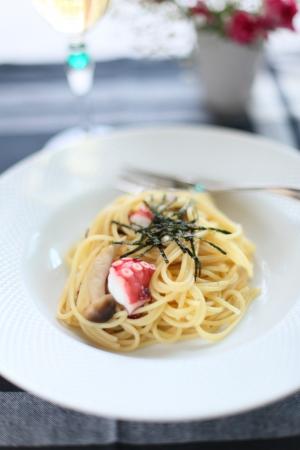 İtalyan mutfağı: italian cuisine, octopus and seaweed spaghetti