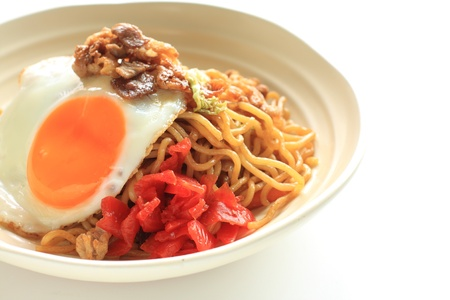 Japanese cuisine, fried noodles with sunny side up egg Stock Photo - 17996524