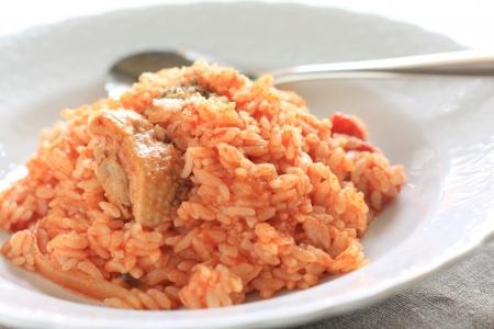 İtalyan mutfağı: İtalyan mutfağı, domates ve tavuk risotto
