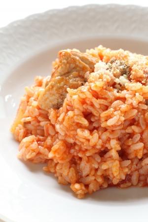İtalyan mutfağı: İtalyan mutfağı, tavuk ve domates risotto