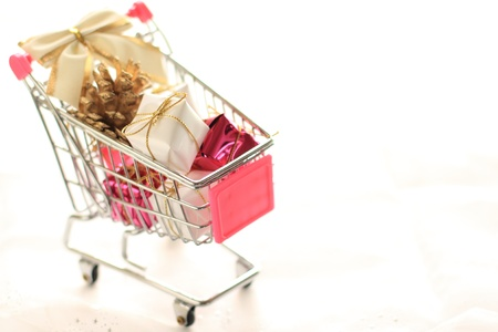 christmas ornament in cart for shopping image Stock Photo - 18049710