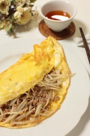 vietnamese food: vietnamese food, soy bean sprount and meat crepe