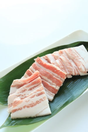 freshness slided pork for korean barbecue Yakiniku photo