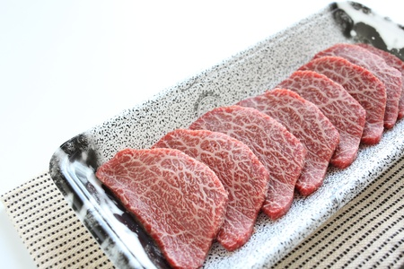 freshness sliced beef from Japan for Korean Yakiniku image photo