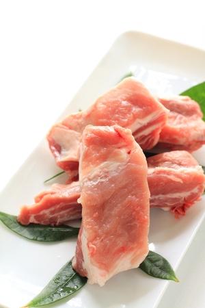 Korean cuisine, spareribs for barbecue Yakiniku photo