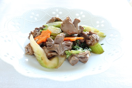 gizzard: chinese food, gizzard and celery stir fried