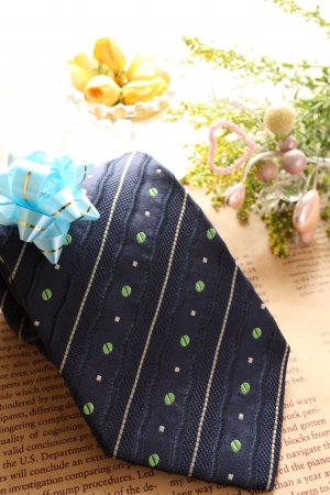 no brand necktie with ribbon for father s day image photo