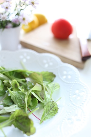cooking for healthy salad photo