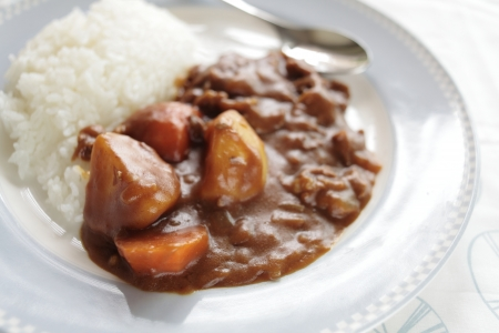 beef curry: Japanese beef curry with rice