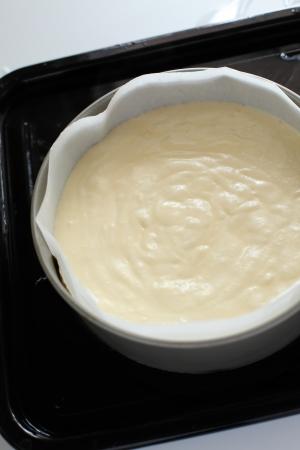 thuis bakken, cheese cake Stockfoto