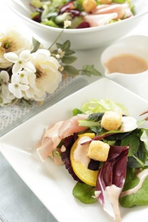 ham and vegetable salad photo