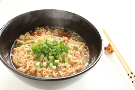 Japanese cuisine, ramen noodles with scallions