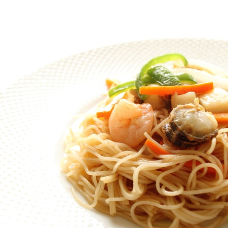 cuisines: chinese cuisine, rice noodles and seafood stir fried