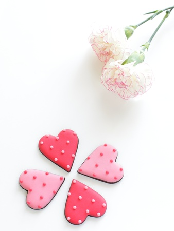 heart shape icing cookie photo