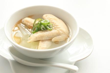 中国の食品、チキンとキャベツのスープ