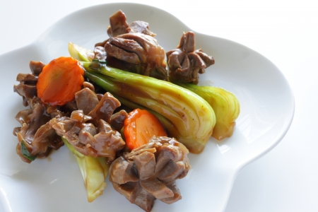 gizzard: Chinese cuisine, gizzard and vegetable stir fried
