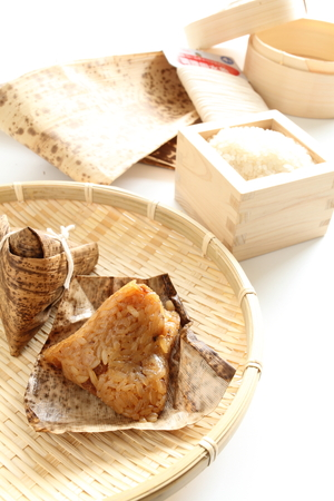 Chinese festival food, Zongzi Wrapped rice for dumpling food image