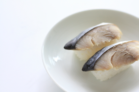 Japanese food, mackerel Sushi Stock Photo - 22845143