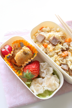 obx: homemade packed lunch, Bento Stock Photo