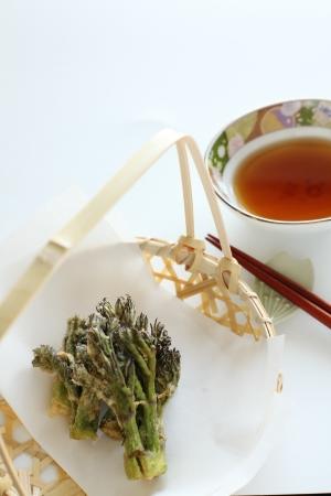 Close up of Japanese sansei tempura photo