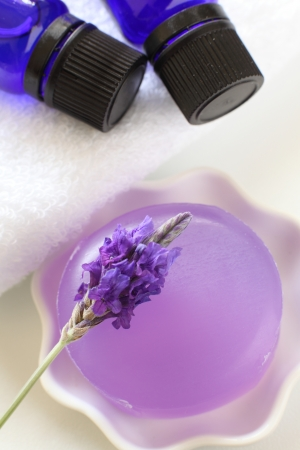 lavendar: Lavendar and soap Stock Photo
