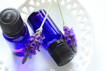 lavendar: Lavendar and aroma oil Stock Photo