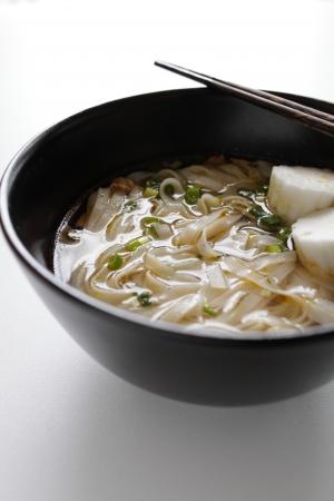 vietnamese food: Vietnamese food, fish ball on Rice noodles Stock Photo