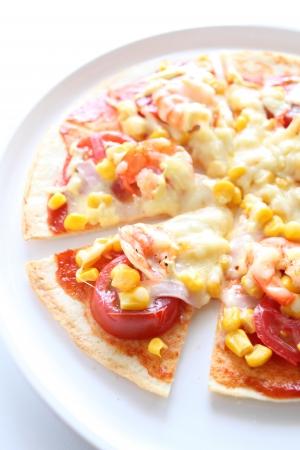 prepared shrimp: prepared shrimp pizza