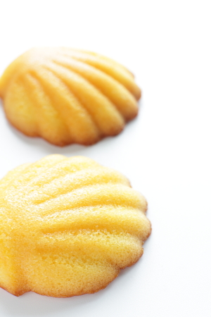 madeleine: Close up of French confectionery, Madeleine Stock Photo