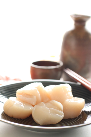 Japanese food, raw Scallop