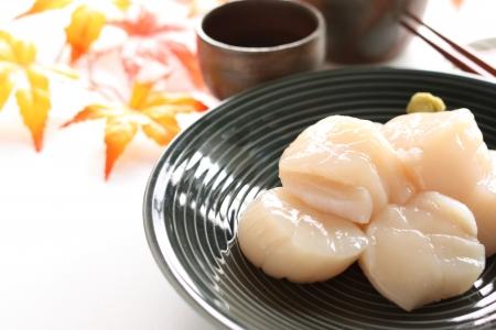 Japanese food, raw Scallop