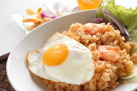 goreng: indonesian food, seafood fried rice Nasi Goreng