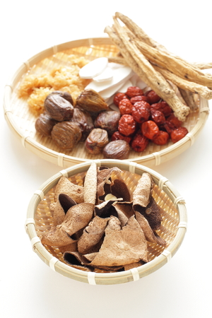 herbology: Chinese Medical isolated on white background