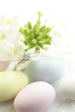 almond candy and diamond ring Stock Photo - 23925485