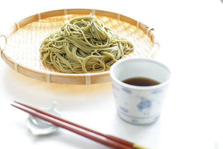 soba noodles: Japanese green tea Soba noodles