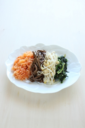 Korean food, Namul vegetable marinted photo