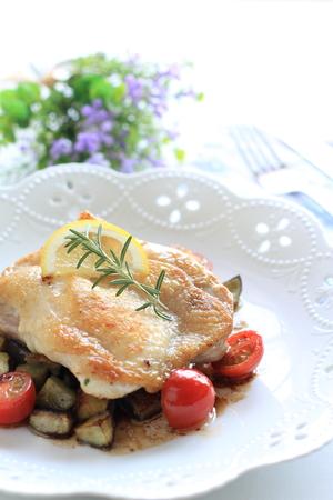 sautee: francese, pollo e rosmarino saltati
