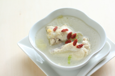 chicken soup: Chinese cuisine, herbal medical and chicken soup