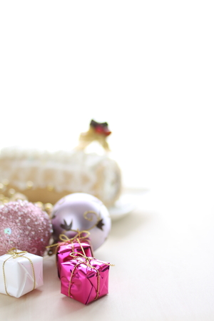 copy sapce: Christmas ornament for background Stock Photo