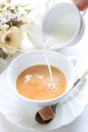 Royal milk tea and brown sugar Banque d'images