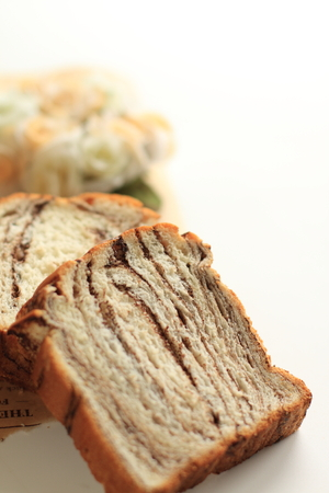 Chocolate marble dansih bread