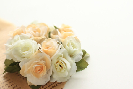 Artificial flower bouquet for wedding background Stock Photo