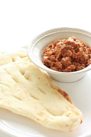 naan: Keema curry and naan
