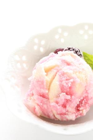 sherbet: close up berry sherbet