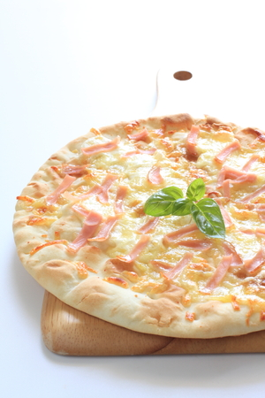 comida italiana: Comida italiana, jam�n y queso de pizza